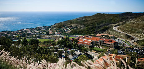 A view of the Malibu campus - Pepperdine University