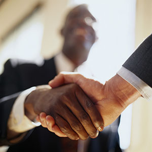 Men shake hands - Pepperdine University