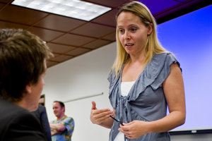 Angela Hawken teaches a class - Pepperdine University
