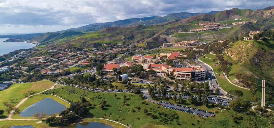 A vista shot of the Malibu campus - Pepperdine University