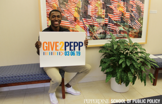 SPP Student Christopher Rodgers -Give2Pepp Day 2019