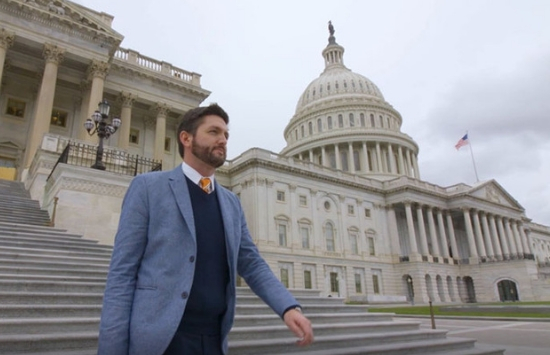 Troy Senik in front of the US Capitol