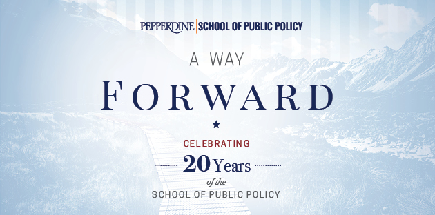 SPP 20th Anniversary graphic - Pepperdine University