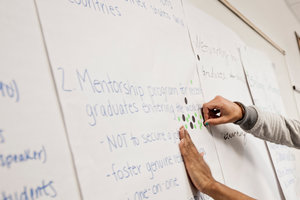 Writing on a whiteboard - Pepperdine University