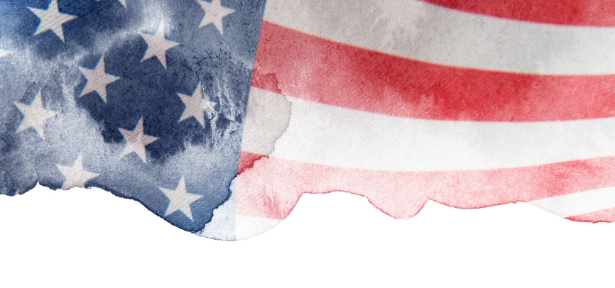 Watercolor American Flag