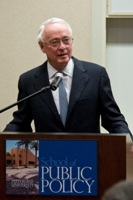 Professor of Public Policy James Q. Wilson gives a lecture - Pepperdine University