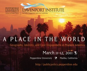 A Place in the World Conference postcard - Pepperdine University