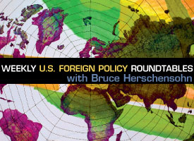 Weekly U.S. Foreign Policy Roundtables with Bruce Herschensohn conference ad - Pepperdine University