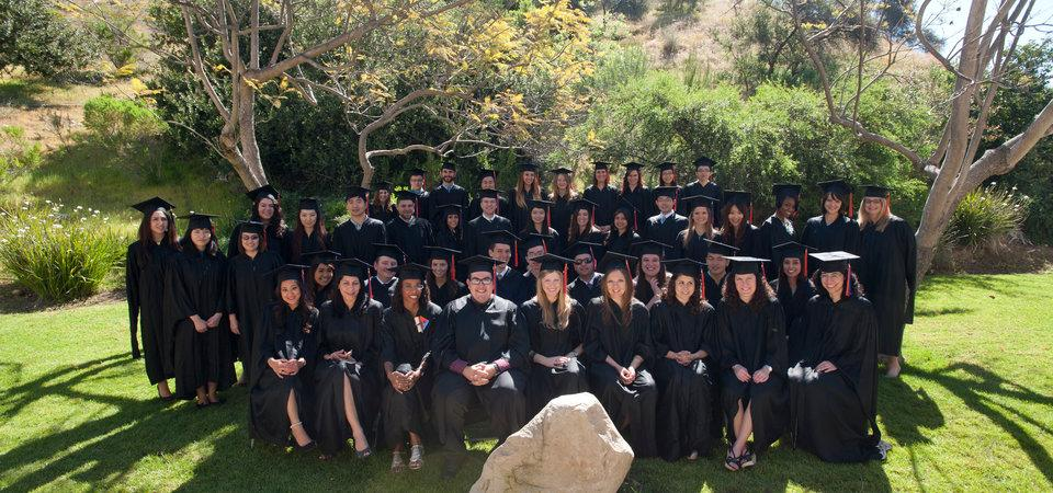 Group of graduates from the School of Public Policy posing for picture
