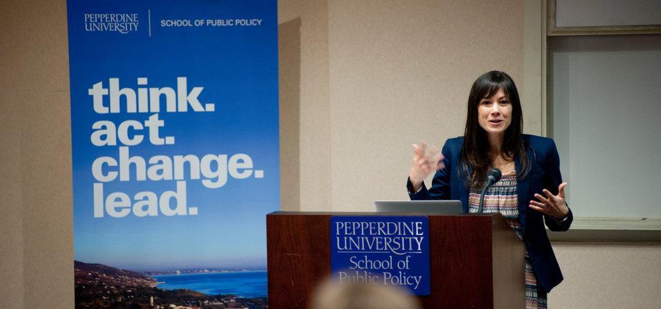 Associate Professor Luisa Blanco Delivering a Lecture on Global Economics