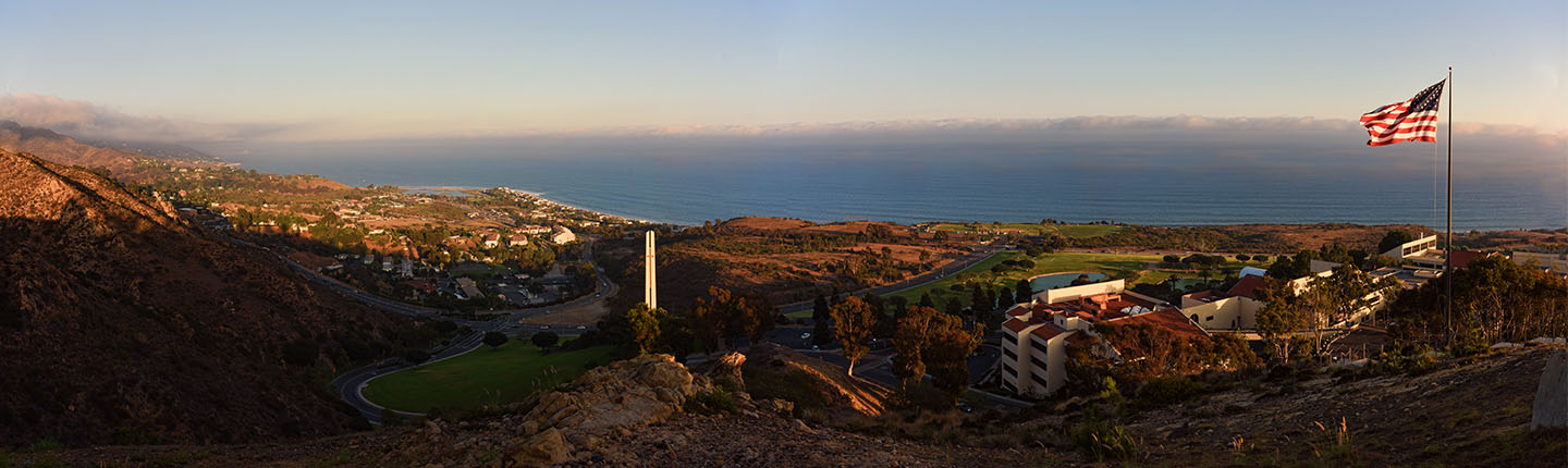 View of Pepperdine and the ocean.